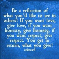 reflect...