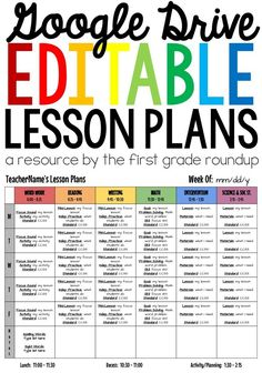 Wanting to go paperless for your lesson plans this year? This fully editable resource has 4 versions of lesson plans for you to use including full color or black and white!