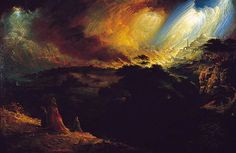 The Destruction of Sodom and Gomorrah John Martin (attributed to) Scarborough Art Gallery Traditional Paintings, Traditional Art, Aberdeen Art Gallery, Sodom And Gomorrah, Glasgow Museum, Sense Of Sight, Biblical Art, John Martin, England