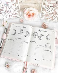 Werbung/Advertisement unpaid 🌸 hey dear ones ☺️ now you can see my complete week with all the moon phases in a flower look ☺️💕🌝🌸 Wish you… Diy Bullet Journal, Bullet Journal Lettering Ideas, Bullet Journal Notebook, Bullet Journal Aesthetic, Bullet Journal School, Bullet Journal Spread, Bullet Journal Ideas Pages, Bullet Journal Inspiration, Bullet Journals