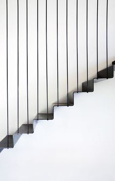 """Suspended Black Steel Lower Internal Stair Detail """"Like the black steel look on poles but do not really think that the black steel stairs would fit with look of house. Would prefer to have closed in under the stairs"""" Architecture Details, Interior Architecture, Interior And Exterior, Modern Interior, Interior Staircase, Staircase Design, Steel Stairs Design, Staircase Metal, Escalier Design"""