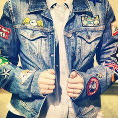 Just got my denim jacket so I can start doing this!!! DIY patched denim jacket