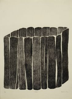 Zarina Hashmi, Cage, 1970. Woodcut: plate, 19 × 19 5/8 in. (48.3 × 49.8 cm); sheet, 30 1/4 × 22 1/16 in. (76.8 × 56 cm). Edition no. 8/10. Printed by the artist. Whitney Museum of American Art, New York