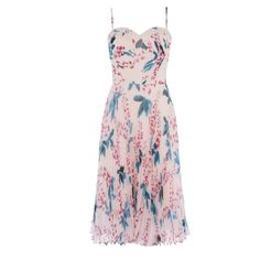 Karen Millen, Pleated Midi Dress, Occasion Wear, Pink Dress, Night Out, Printer, Dresser, Floral Prints, Clothes For Women