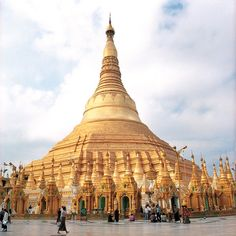 """Myanmar- Schwedagon Pagoda  """"...Men still wear traditional skirtlike lungis, horse carts trot dirt roads, and golden stupas and Buddhas are preserved as if in a time warp."""" via Outside Magazine"""