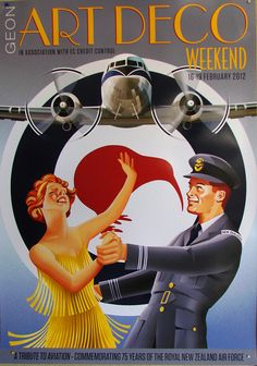 Poster advertising the Napier Art Deco Weekend in February 2012. The festival was also a tribute to thr Royal New Zealand Air Force.