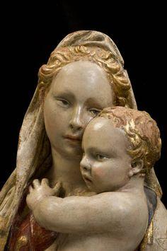 "Donatello (attr.), ""Madonna and Child"", terracotta, Citerna (Perugia), Chiesa di San Francesco"