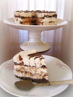 Cheesecake al cocco variegata alla nutella ricetta senza cottura Nutella, Cacao, Gelato, Vanilla Cake, Tiramisu, Caramel, Bakery, Banana, Sweets
