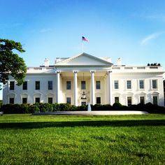 Beautiful day to walk by the White House.