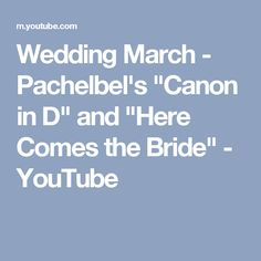 Harp And Violin Arrangement Of Pachelbels Canon In D Which Fades Out Transitions Into The Bridal March Aka Here Comes Bride
