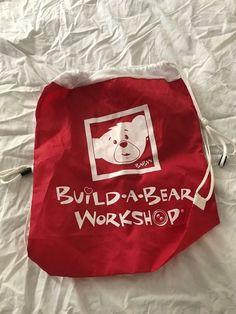 Build-a-Bear Workshop Bag Red Mesh Drawstring #BuildABearWorkshop