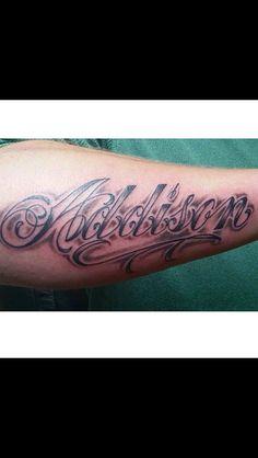 Daughters name tattoo