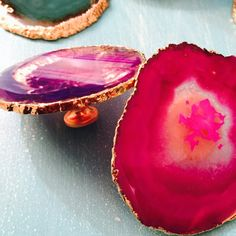 Gold Plated Agate Knobs
