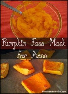 Homemade pumpkin face mask for acne. Apart from Halloween celebration, pumpkin is packed with cosmetic benefits. Wash your face and apply the mask. Homemade Face Moisturizer, Face Scrub Homemade, Homemade Face Masks, Homemade Skin Care, Tinted Moisturizer, Face Mask For Blackheads, Acne Face Mask, Skin Mask, Pore Mask