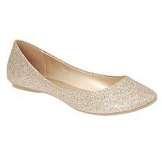 Gold 'Arleigh' glitter pumps - Flat shoes - Shoes & boots - Women -