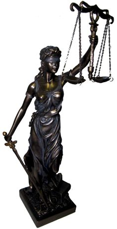 Justitia Themis Goddess of Justice & Law Statue Bronze Cast Sculpture Giveaway!