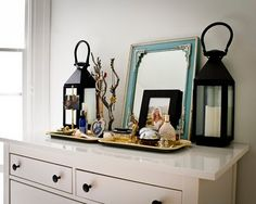 Archway Renovate Our Cur To Look Like This For The Pottery Barn Mirrored Dresser Top Trays