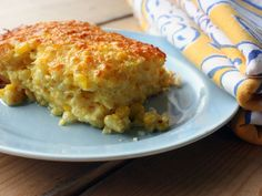 Corn Pudding.  A southern standby, this recipe is classic.  Ina Garten makes one with ricotta, basil, and other sacrilegious things. If you want it to taste like Grandma's, this is the recipe.