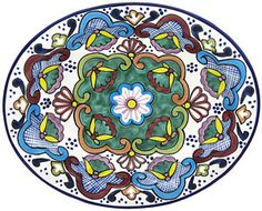 These colorful, handmade Talavera bowls are a perfect highlight to any dining table, serving area, or wall. The bowls are ideal for serving any type of food or drink in Southwest style.  As decoration, the bowls will make a colorful addition to any rooms d�cor.  This particular collection is beautifully handcrafted and hand-painted by the studio of Tomas Huerta.  Each authentic piece is made in Puebla, Mexico and is 100% lead free; chip resistant; and microwave, oven, and dishwasher safe!