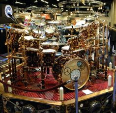 Steampunk Drum Set Used By Neil Peart On The Time Machine Tour For Rush A