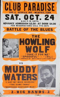 24.10.1964; the howling wolf - muddy waters; usa, memphis, club paradise (db)