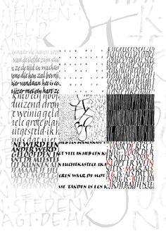 Witruimte-werk van cursisten - kalligrafie Krootjepapa 2015