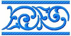 Border free embroidery design 6 - Decoration free embroidery designs - Machine embroidery community