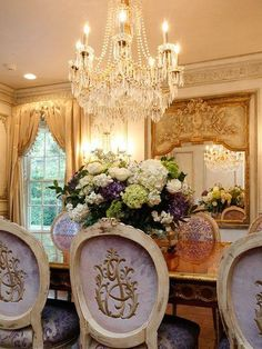Those chairs and flowers.  That mirror and chandelier.