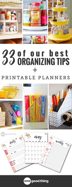 We have featured a LOT of great organization ideas throughout the years and these are some of our very favorite! This is life-changing stuff! #freeprintable #organizationtips