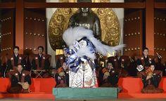 海老蔵さん、十八番を熱演…薬師寺奉納歌舞伎