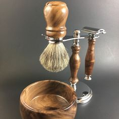 Men's Shaving Kit handcrafted from American Black by AlwaysTurning