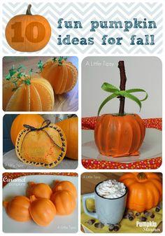 10 Fun Pumpkin Ideas for Fall  #Halloween