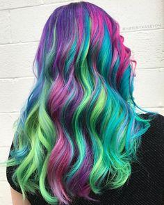 "3,381 Me gusta, 30 comentarios - Rockville, MD PulpRiot Stylist (@hairbykaseyoh) en Instagram: ""Unicorn vs mermaid for @hello_kelsea ♀️ looks like rainbow ribbons ribbons is a weird word…"""