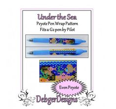 Bead Pattern Peyote(Pen Wrap/Cover)-Under the Sea   DebgerDesigns - on ArtFire