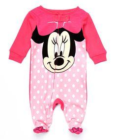 Look at this #zulilyfind! Minnie Mouse Footie - Infant by Minnie Mouse #zulilyfinds