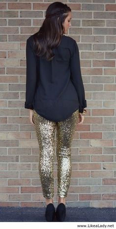 Sequin leggings...would have to be feeling brave to wear these