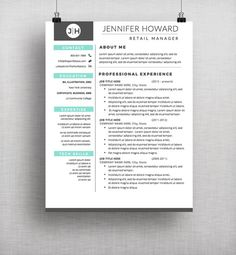 Professional Resume Templates  Cv Template  Cover Letter