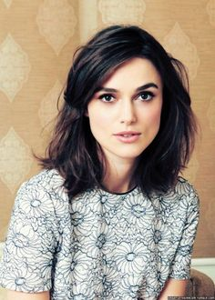 Pictures of Keira knightly with side swept bangs | Keira Knightley