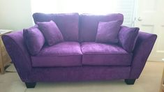 2 seater Alexis sofa in Amethyst with dark wood feet. Dark Wood, Sofas, Love Seat, Amethyst, Couch, Furniture, Home Decor, Chair, Homemade Home Decor