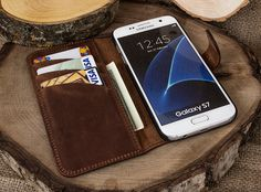 Christmas Gifts For Him, Samsung Galaxy S7 Edge Case, Samsung S7 Edge Leather Case, Leather Samsung S7 Edge Case, Galaxy S7 Edge Case