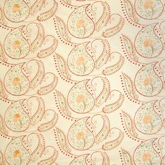 The G9022 Butter upholstery fabric by KOVI Fabrics features Paisley, Floral, Asian pattern and Neutral as its colors. It is a Faux Silk, Embroidery type of upholstery fabric and it is made of 100% Polyester With 100% Rayon Embroidery material. It is rated Heavy Duty which makes this upholstery fabric ideal for residential, commercial and hospitality upholstery projects. This upholstery fabric is 51 inches wide and is sold by the yard in 0.25 yard increments or by the roll. Call 800-860-3105
