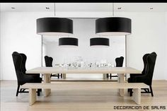 Contemporary Dining Room Furniture on Modern Dining Room Home Design Modern Dining Room Home Design Dining Room Design, Dining Room Chairs, Dining Room Furniture, Dining Rooms, Dining Area, Mirrored Furniture, Dining Bench, Black Furniture, Antique Furniture