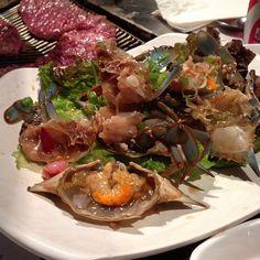 New Wonjo: 24-hour marinated raw crab. Stunner