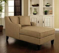 For the reading room    Abbyson Living Richmond Taupe Linen Chaise | Overstock.com