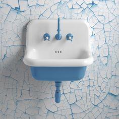 Vasque suspendue / rectangulaire / en céramique / classique LAVABO TRUE COLORS 60CM BY Bleu Provence BLEU PROVENCE