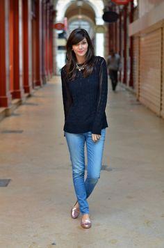 H sweater / Zara Jeans + Kate Spade sleepers
