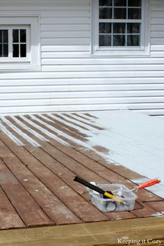 A product called Deck Restore from Home Depot can cover & fill defects in deck wood.
