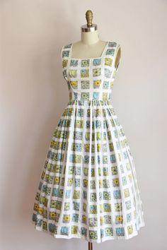 50s Spring & Summer dress / vintage 1950s floral by seaofvintage