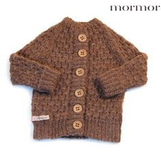 Kids Petit Kolibri Baby Alpaca V neck Cardigan Grey