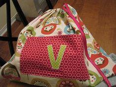 birthday #drawstring gift bag w/ pocke t